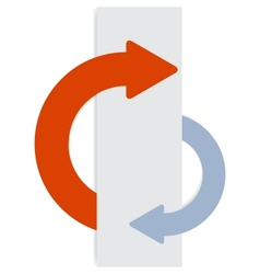 2 half-round sticky arrows vector image vector image
