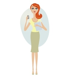 attractive young women in elegant office clothes vector image vector image