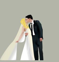 bridegroom vector image