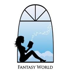 dive into the fantasy world of books vector image
