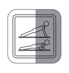 figure person doing planks icon vector image