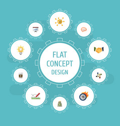 flat icons financing support design and other vector image
