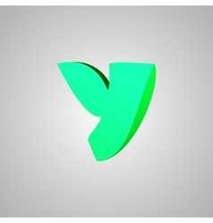 Letter y comic style font eps10 vector