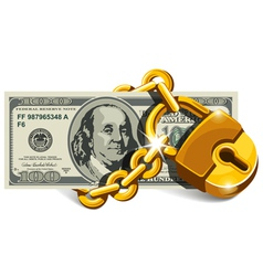 Locked dollar vector image vector image