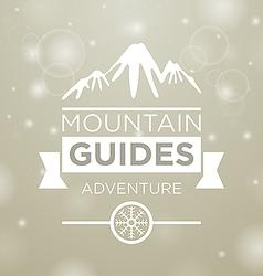 Mountain guides adventure vector image