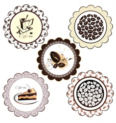 set of coffee background vector image vector image