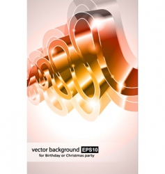 3d poster vector image