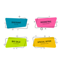 abstract banners promo shapes and tags for sale vector image
