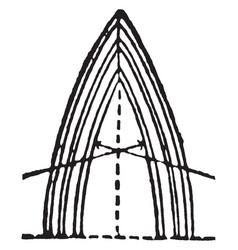 Arch lancet vintage engraving vector