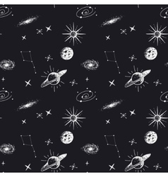 astronomy seamless pattern vector image