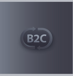 B2c service logo with arrows vector