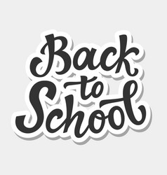 Back to school banner template vector