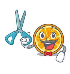 Barber orange character cartoon style vector