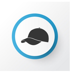 Baseball cap icon symbol premium quality isolated vector