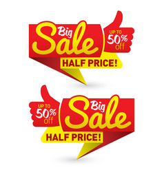 Big sale price offer deal labels templates vector