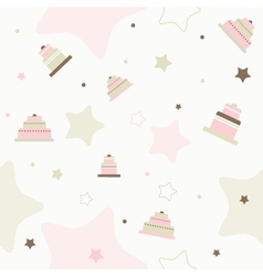 Birthday Cake Pattern Background vector