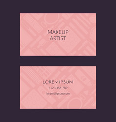 business card for beauty brand or makeup vector image