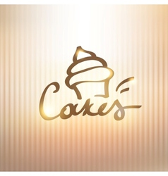 Cakes sign vector