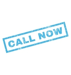 Call Now Rubber Stamp vector