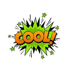 cartoon comic word cool expression communication vector image
