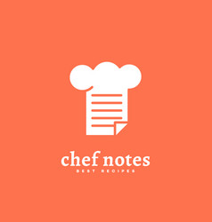 chef notes logo vector image