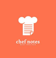 chef notes logo vector image