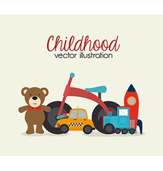 Childhood design over beige background vector