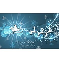 Christmas abstract greeting card Flying Santa on vector