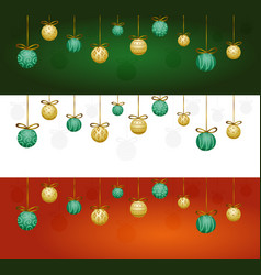 christmas garland with tree decorations vector image