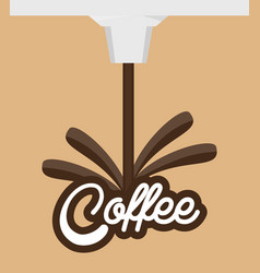 Coffee traditional beverage design vector