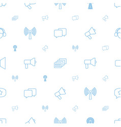 communicate icons pattern seamless white vector image