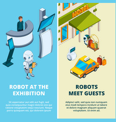 concept with various robots vector image