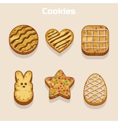 Cookies in different shapes set vector image