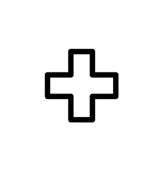 cross hospital icon vector image