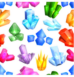 Crystal crystalline stone or gem and vector