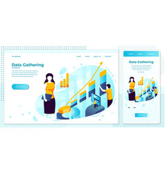 data gathering service show profit graphic vector image