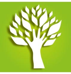 decorative hand tree vector image
