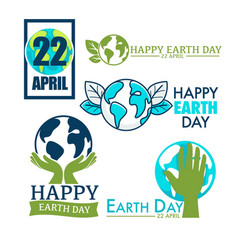 ecology and environment protection earth day vector image