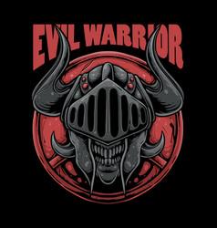 Evil warrior vector
