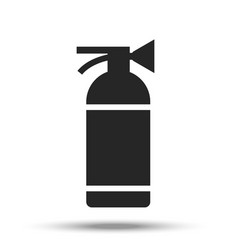 fire extinguisher painted in flat design vector image