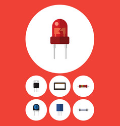 Flat icon appliance set of recipient receptacle vector