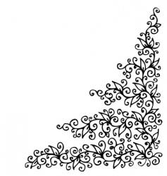 Floral vignette Eau-forte vector