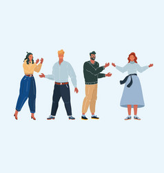 group cartoon people on vector image