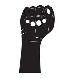 hand silhouette vector image