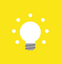 icon concept of glowing light bulb on yellow vector image