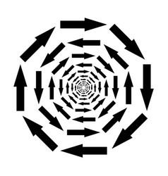 icon mixing symbol arrows in circle in vector image