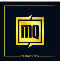 Initial letter mq logo template design vector