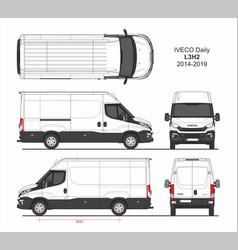 Iveco daily cargo delivery van l3h2 2014-2019 vector