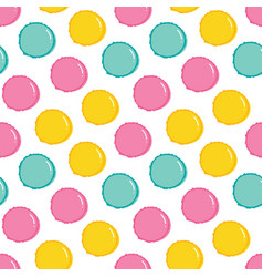 Macaron pastry seamless pattern vector
