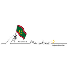 mauritania independence day flag background vector image